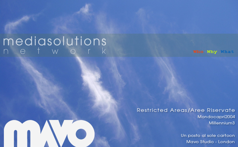 Svevo Romano - Media Solutions Network, Mavo Studio - Graphic designer, web designer, animator, intercative media designer